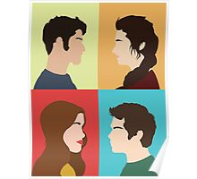 Scott, Allison, Lydia + Stiles Poster