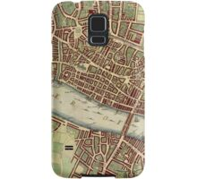 Vintage Map of London England (16th Century) Samsung Galaxy Case/Skin