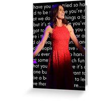 Laura Benanti Quote poster Greeting Card