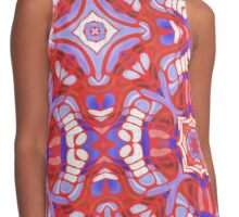 Red WHite and Blue Abstract 78 Contrast Tank
