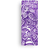 Violet Swirls Canvas Print