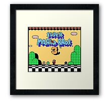 super mario bros 3 title screen Framed Print