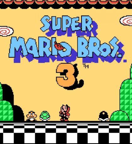 super mario bros 3 title screen Sticker