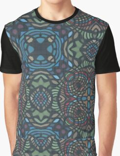 Colorful Stained Glass 2 Graphic T-Shirt