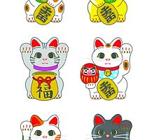 Lucky Cat / Maneki Neko by StudioMarimo