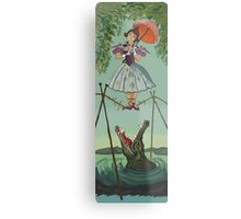 Haunted Mansion Tightrope Girl  Metal Print