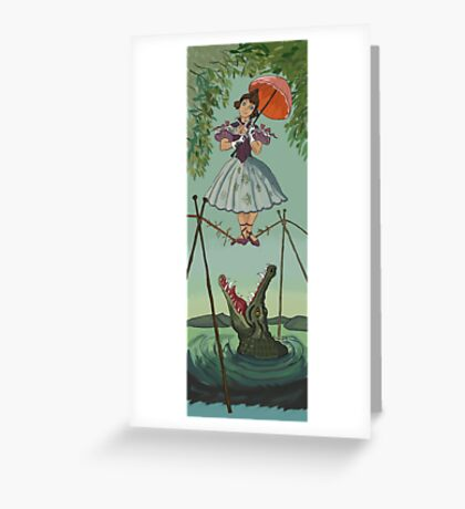 Haunted Mansion Tightrope Girl  Greeting Card