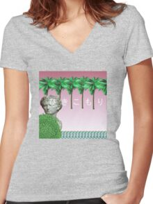Gravel Parkway Women's Fitted V-Neck T-Shirt