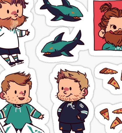 hockey and pizza Sticker