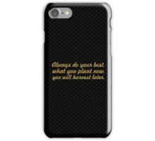 """Always do your best... """"Og Mandino"""" Inspirational Quote iPhone Case/Skin"""
