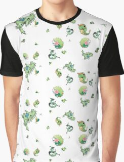 Green Pokemon Graphic T-Shirt