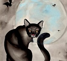 the black cat by resonanteye