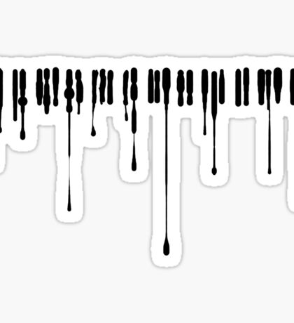 Splatter Piano (Black) Sticker