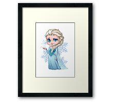 Chibi Elsa Framed Print