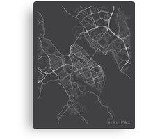 Halifax Map, Canada - Gray Canvas Print