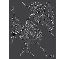 Halifax Map, Canada - Gray Photographic Print