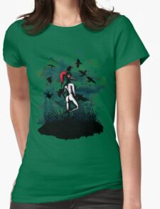 Dancing With Crows Womens Fitted T-Shirt