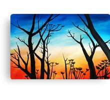 Fall Silhouette Canvas Print