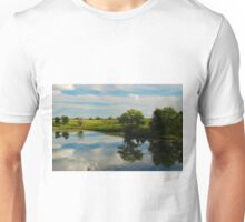 Summer Reflections on an Iowa Pond Unisex T-Shirt