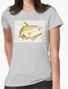 Brown Shark Splatter Womens Fitted T-Shirt