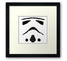 Rorschach Storm Trooper Framed Print