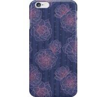 Cacti Blooms Midnight iPhone Case/Skin