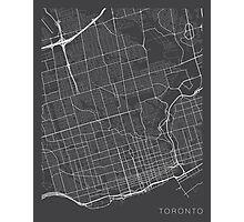 Toronto Map, Canada - Gray Photographic Print