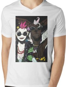 Tank Girl and Booga Mens V-Neck T-Shirt