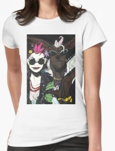 Tank Girl and Booga Womens Fitted T-Shirt