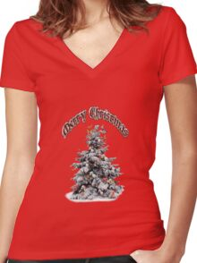butterfly tree Women's Fitted V-Neck T-Shirt