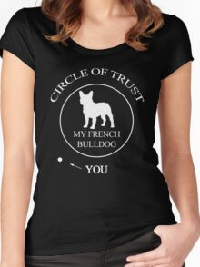 Funny French Bulldog Women's Fitted Scoop T-Shirt