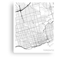Toronto Map, Canada - Black and White Canvas Print