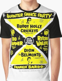 Buddy Holly's Winter Dance Party Graphic T-Shirt
