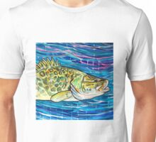 Murray Cod with Blue Unisex T-Shirt