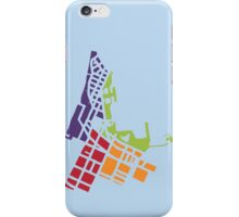 Map of Wellington NZ (small design) iPhone Case/Skin