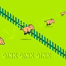 Jumping Pigs by vivendulies