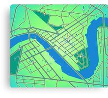Pokemon Go Game map, Brisbane Australia Canvas Print