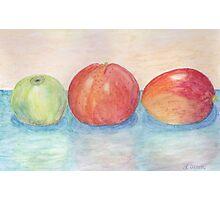 Apple Orange and Mango Watercolor  Photographic Print