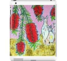 Kangaroos with Bottlebrush iPad Case/Skin