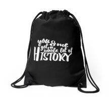 History Lyrics Black Drawstring Bag