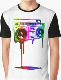 Boombox Rainbow Graphic T-Shirt