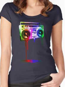 Boombox Rainbow Women's Fitted Scoop T-Shirt