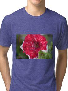 Red Petunia Tri-blend T-Shirt