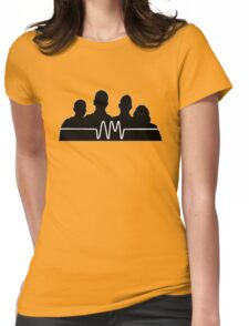 arctic monkeys silhouette  Womens Fitted T-Shirt