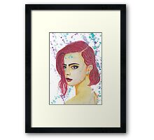 Skittles - Colorful Watercolor Portrait Framed Print
