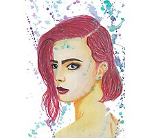 Skittles - Colorful Watercolor Portrait Photographic Print
