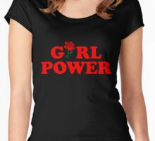 Girl Power Rose Cute Women's Fitted Scoop T-Shirt