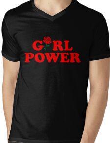 Girl Power Rose Cute Mens V-Neck T-Shirt