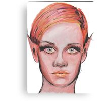 Elven Twiggy Ink Portrait Canvas Print