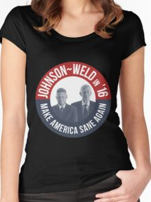 Gary Johnson Weld Make America Sane Again Women's Fitted Scoop T-Shirt